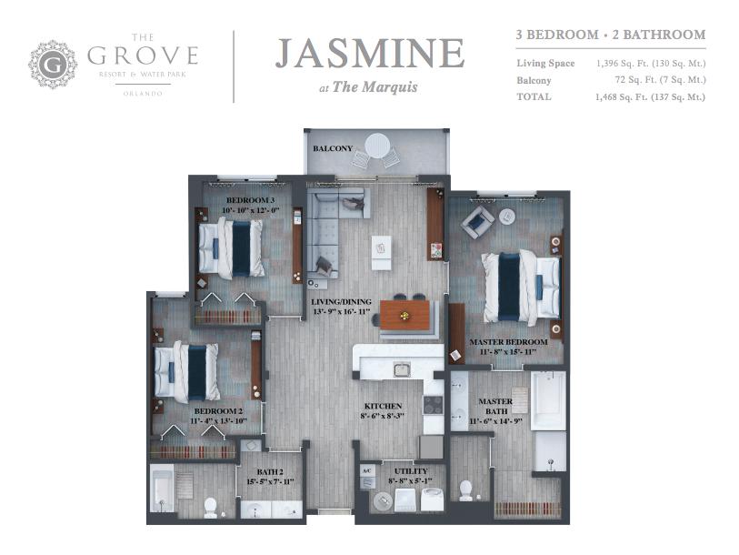 THE GROVE ORLANDO JASMINE HOMESBYRAU
